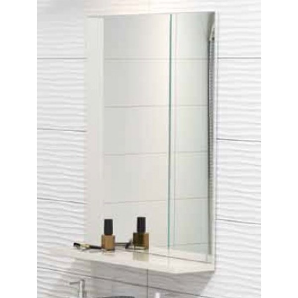 Зеркало CERSANIT EASY с полочкой, без подсветки, цвет капучино, P-LU-EAS/Cp