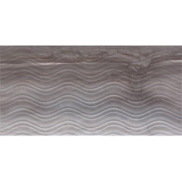 Blast Декор серый рельефный K080015 30х60